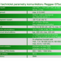 Technické parametry Reggae GTbz