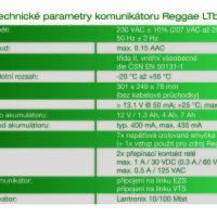 (Čeština) Technické parametry Reggae LTbz