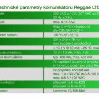 Technické parametry Reggae LTbz