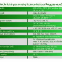 Technické parametry Reggae epsData