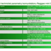 Technické parametry Reggae mini GTbz