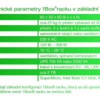 Základní technické parametry PCO technologie 1Box®