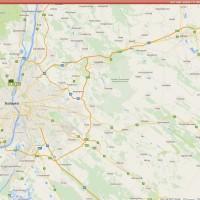 Online záznam aktuálnej polohy vozidla v zahraničí na mapách Google.