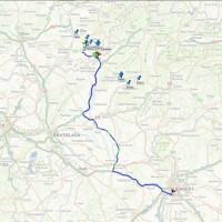 Záznam trasy vozidla v zahraničí s nastavením bodov záujmu (points of interests).