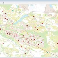 Mapa veřejného osvětlení města Havířov