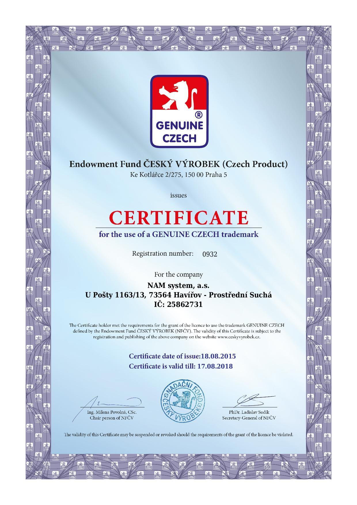 certificate_genuine_czech_EN