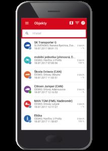 Výber trackerov v menu