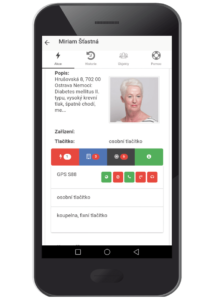 Zobrazení dalších dostupných funkcí použitého zařízení (lokalizace, tel. hovor a další)